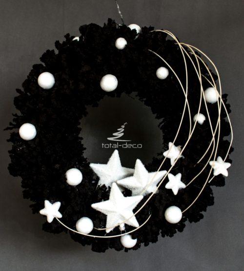 nowoczesny wianek bożonarodzeniowy/stroik świąteczny