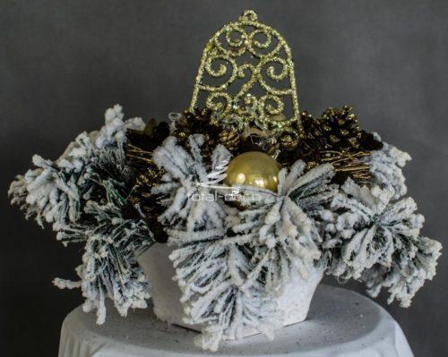 Dekoracja świąteczna kompozycja bożonarodzeniowa