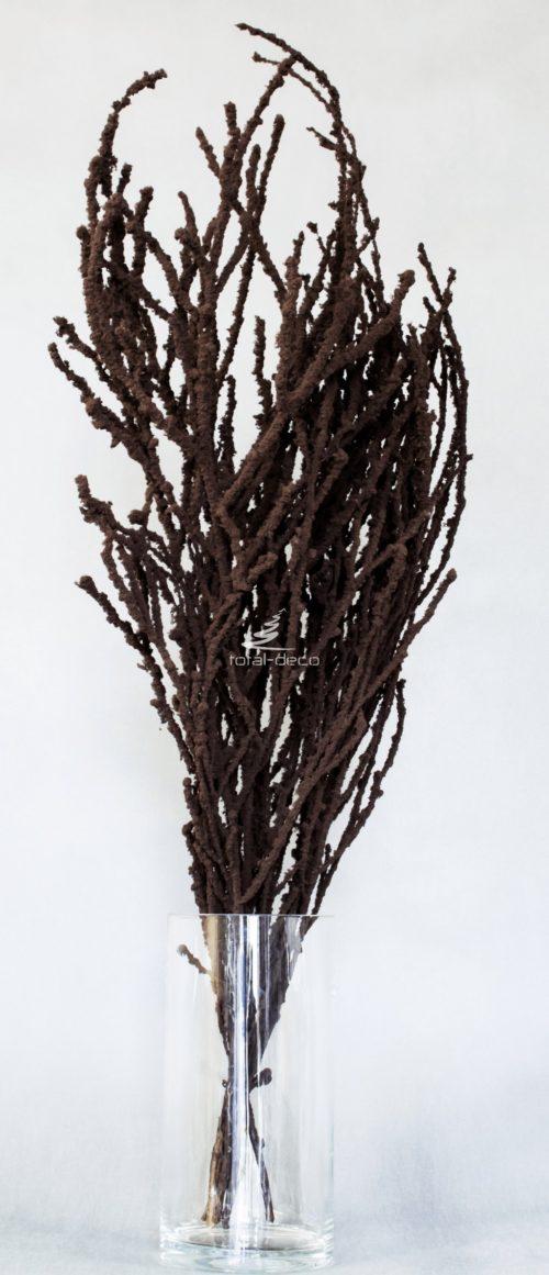 Gałązki ozdobne brązowe bukiet flokowany