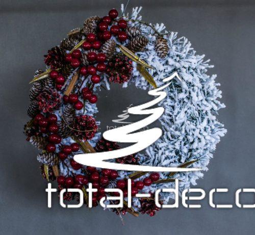 Ośnieżony wianek śnieżony wieniec dekoacja świąteczna bożonarodzeniowa nowoczesna dekoracja ozdoba świąteczna bożonarodzeniowa na boże narodzenie online sklep internetowy