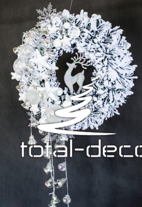 wianek świąteczny bożonarodzeniowy do powieszenia położenia dekoracja ozdoba zimowa świąteczna online sklep internetowy ośnieżona deoracja śnieżona
