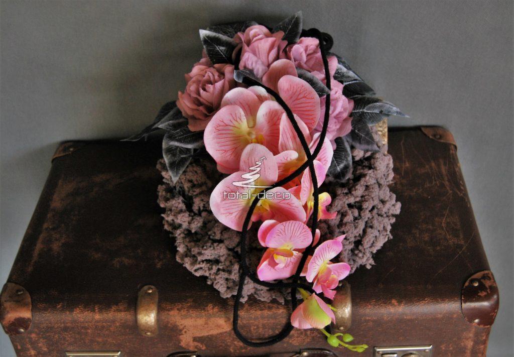dekoracja nagrobna wianek ze sztucznymi kwiatami/kompozycje nagrobne bardzo tanio