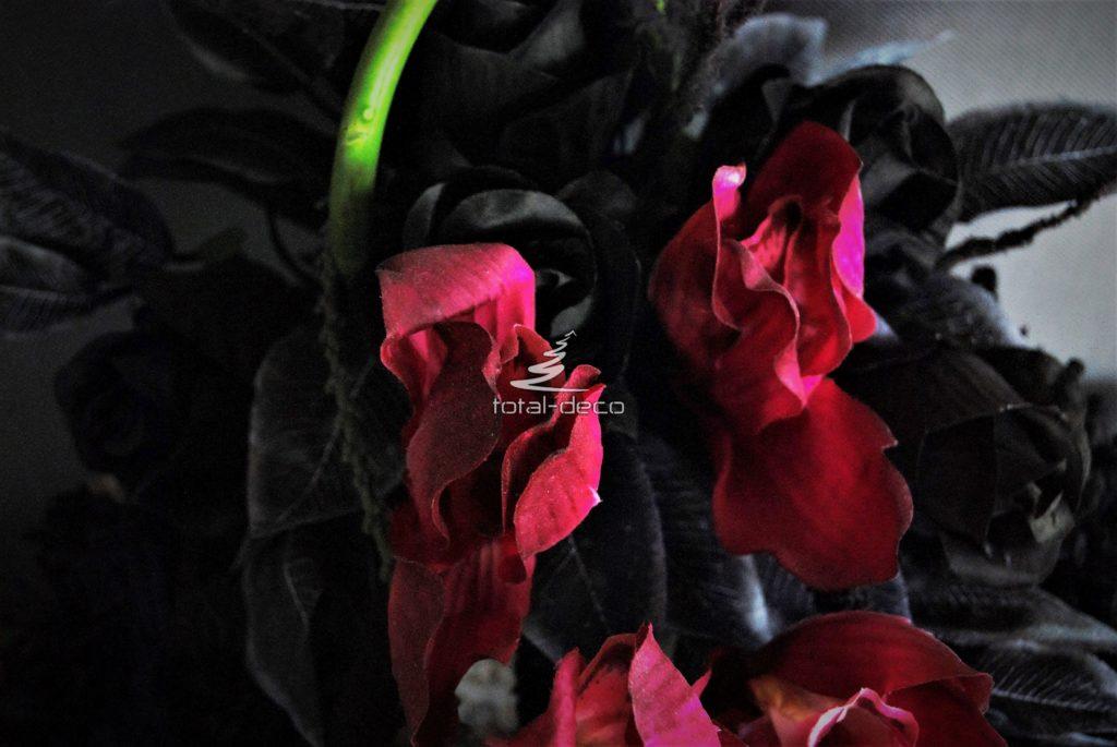 dekoracja nagrobna czarny wieniec