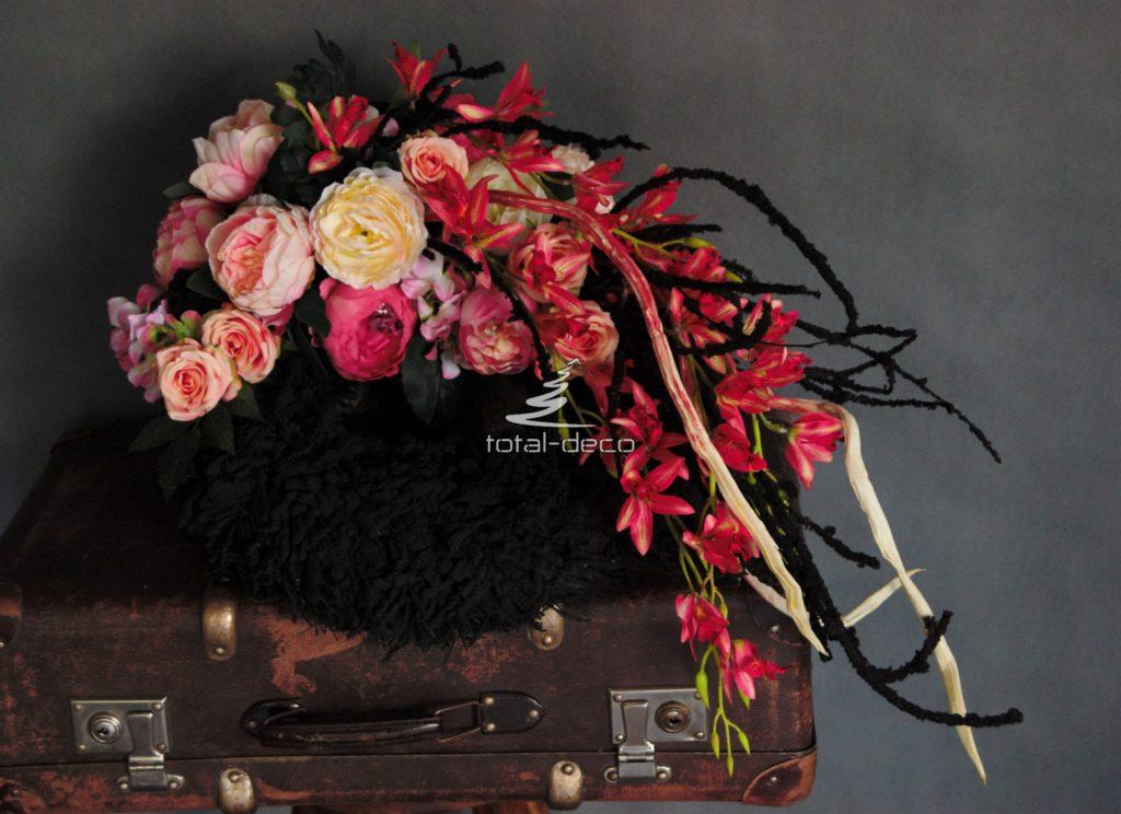 bogaty wieniec nagrobny/kompozycje na święto zmarłych