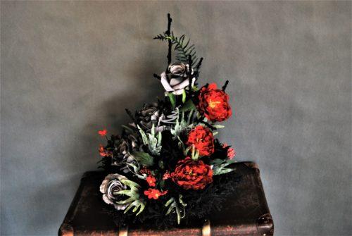 wiązanka na wszystkich świętych/stroik na cmentarz