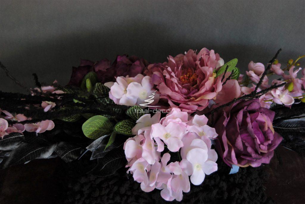 dekoracja nagrobna/wiązanki na cmentarz z pięknymi kwiatami sztucznymi