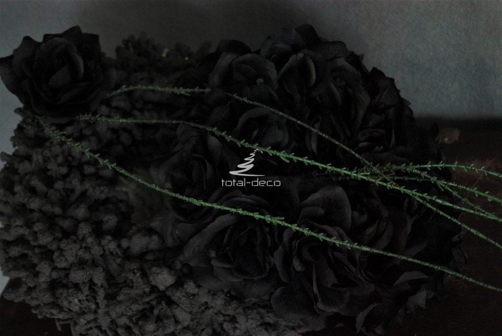 Czarna dekoracja nagrobna do kupienia