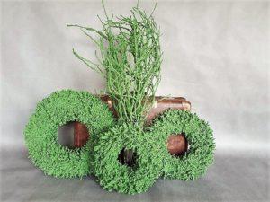 zielone wianki na dzwi,wiosenne,wszystkich świętych