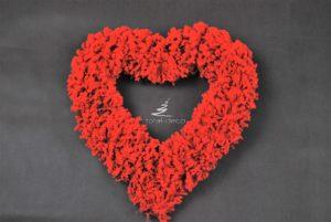 Serce czerwone wianek
