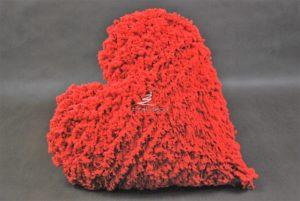 Serce czerwone dekoracja kwiacirni walentynki