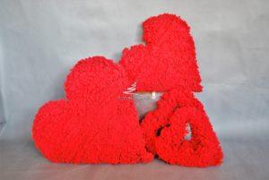 czerwone serca walentynkowe