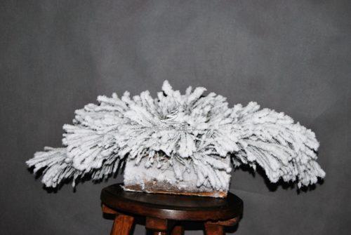 Naturalny podkład pod stroik śnieżony żywy dekoracja świąteczna nowoczesna ozdoba podkład pod stroik