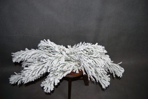 Naturalny podkład florystyczny śnieżony na stroik nowoczesna ozdoba bożonarodzeniowa świąteczna na grób do domu na zewnątrz
