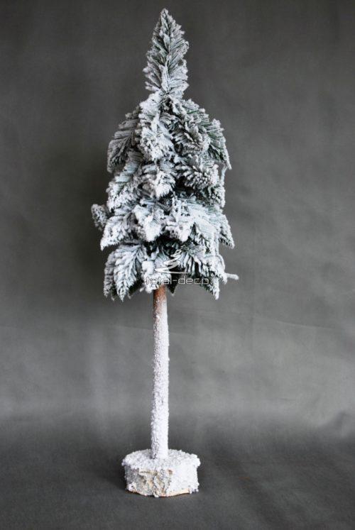 Choinka sztuczna śnieżona nowoczesna biała na pniu żywa sztuczna mała wąska duża wysoka piękna oryginalna oprószona śniegiem pokryta puchem