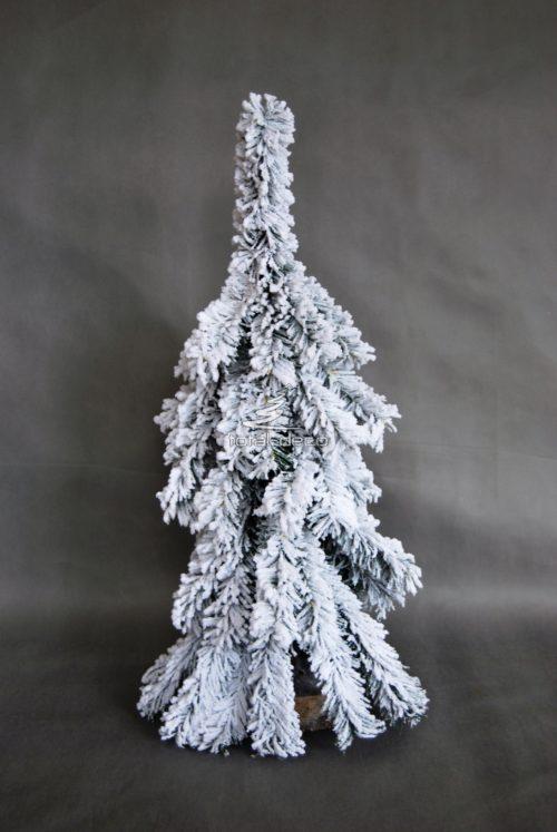 Choinka śnieżona biała nowoczesna mała biała sztuczna oprószona śniegiem nowoczesna oryginalna nietuzinkowa