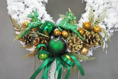 Wianek zimowy dekoracja świąteczna