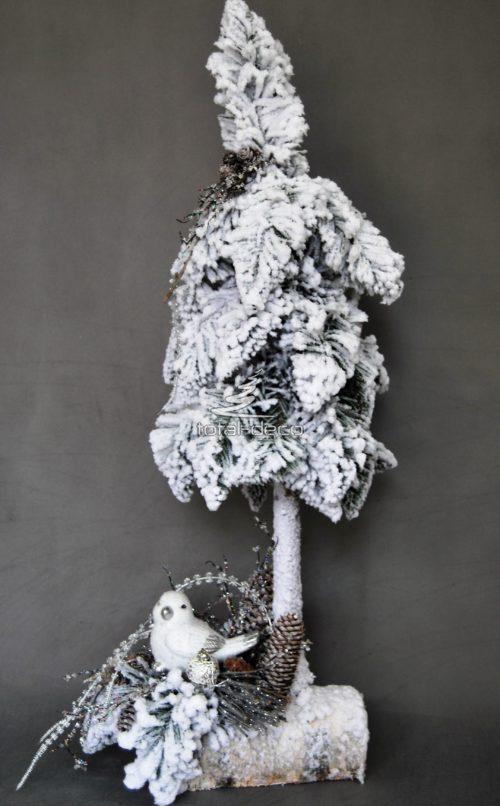 Dekoracja świąteczna z choinką