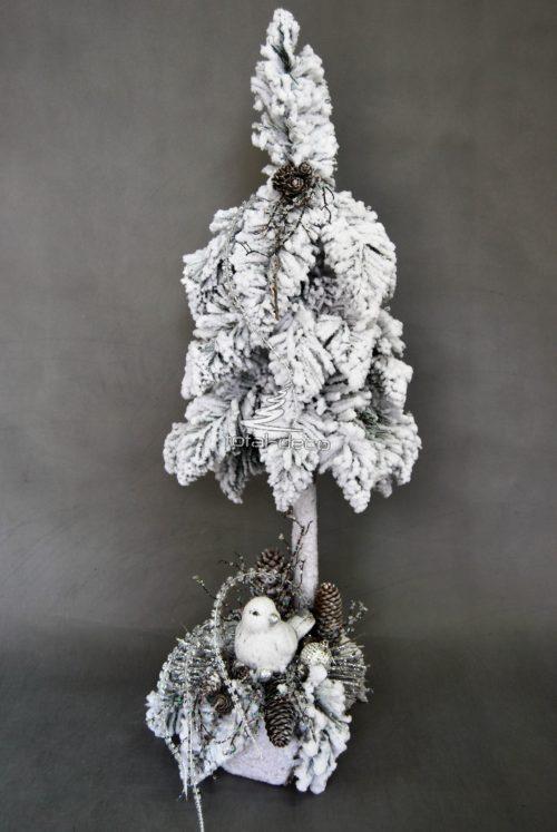 Kompozycja świąteczna choinka ze stroikiem