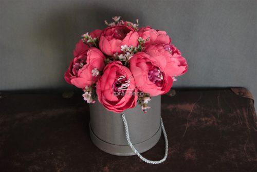 Flowerbox kwiatowy malinowy