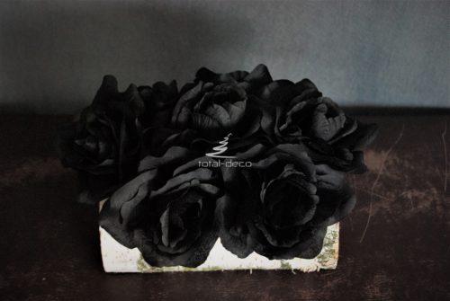 Flowerbox czarne róże
