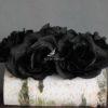 Dekoracja kwiatowa czarne róże