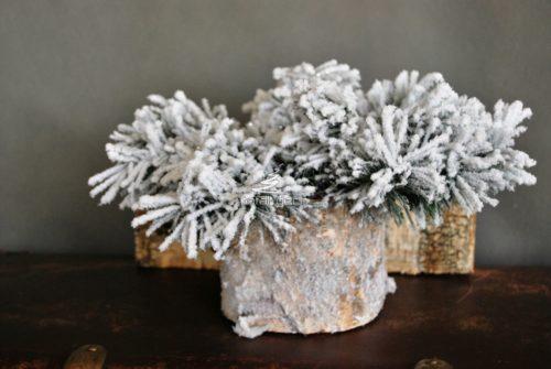 Podkład pod kompozycje świąteczną dekoracje całoroczną bożonarodzeniową nowoczesna ozdoba oprószona śnieggiem ośnieżona dekoracja sztuczna żywa naturalna pachnąca oryginalna