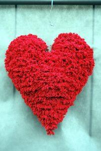 Duże czerwone serce walentynki