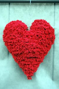 serce prezent na walentynki