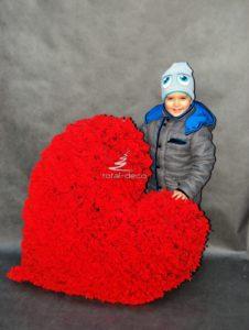 Serce czerwone dekoracja dla zakochanych