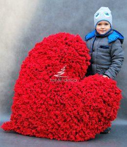 Wielkie czerwone serce walentynki