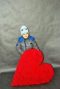Czerwone serce walentynki
