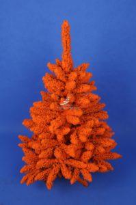 Choinka śnieżona pomarańczowa