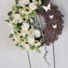 wianek na drzwi białe kwiaty