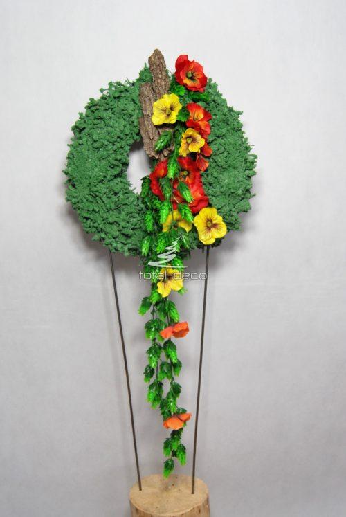 Wianek zielony na drzwi wiosenna dekoracja