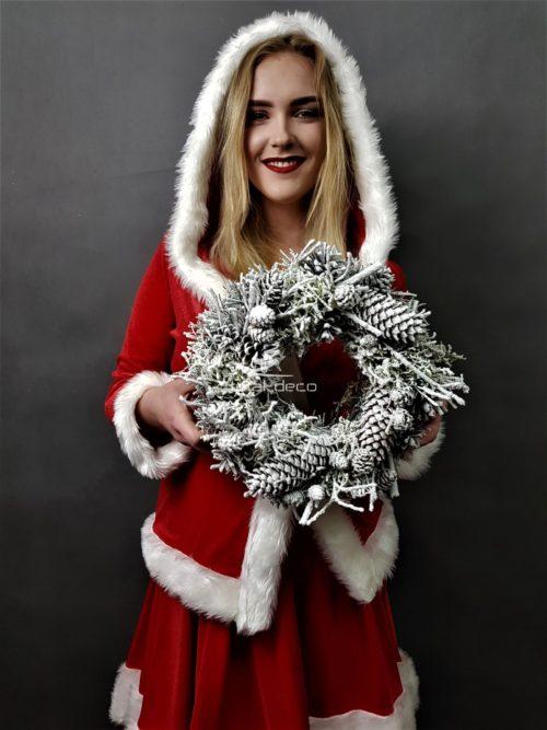 wianek bożonarodzeniowy/jak zrobić wianek świąteczny na drzwi