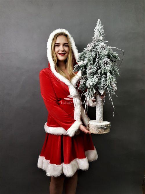 biała choinka na pniu/ośnieżone choinki świąteczne - ,,Szadziowy Las'' 90cm