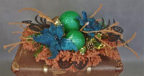 kompozycja bożonarodzeniowa dekoracja świąteczna na cmentarz ozdoba cmentarna boże narodzenie