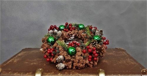 wianek na stół wigilijny/stroik bożonarodzeniowy