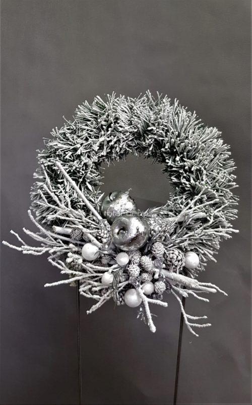 nowoczesny wianek bożonarodzeniowy/stroik wigilijny