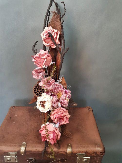 różowy bukiet na cmentarz/e-stroiki na wszystkich świętych