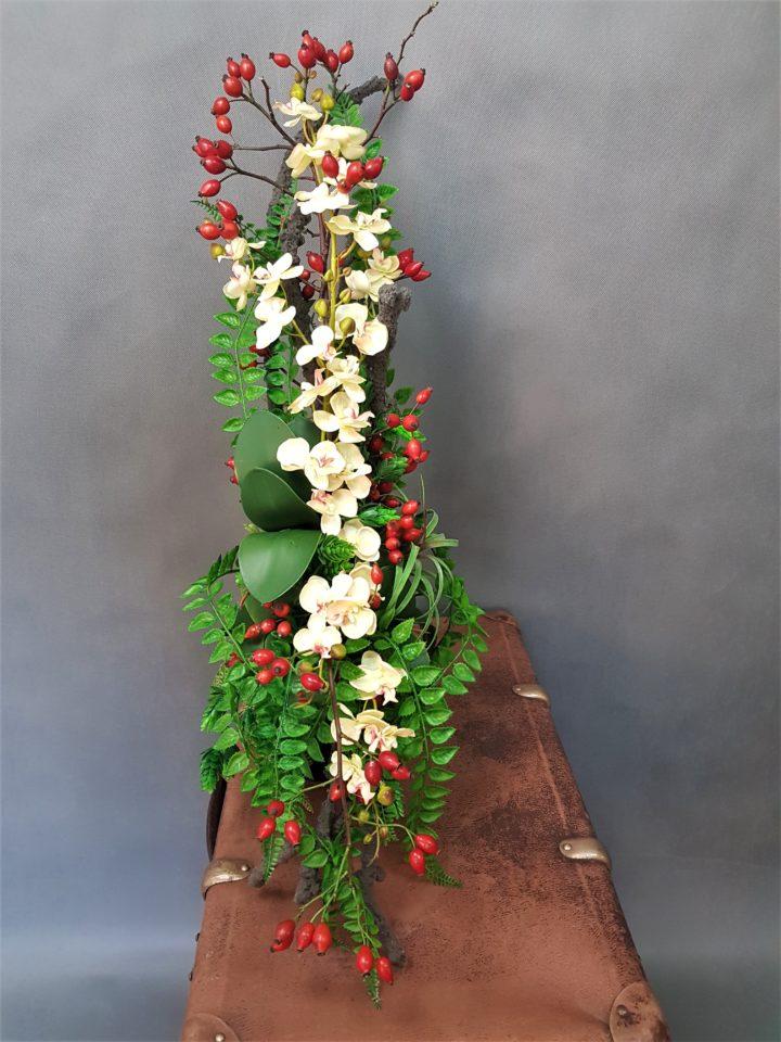 Bukiet na cmentarz,sztuczne kwiaty do wazonu na cmentarz