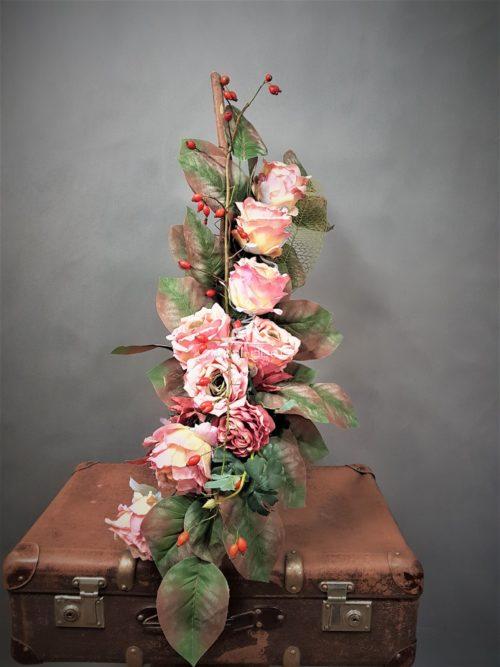 bukiet na cmentarz/dekoracja nagrobna do wazonu