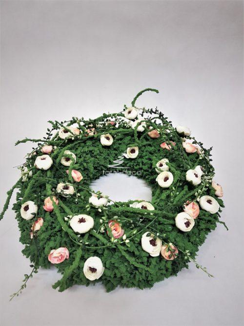 wianek dekoracyjny/oryginalny wieniec kwiatowy