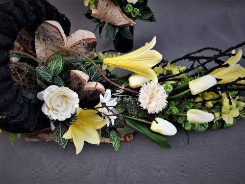 kompozycje kwiatowe na cmentarz-e stroiki na cmentarz