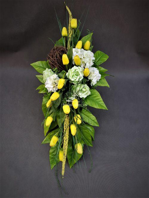 kompozycja kwiatowa na cmenntarz/wielkanocne wiązanki na groby
