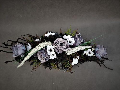 wiązanka na grób z różami/podłużne stroiki na cmentarz bardzo tanio