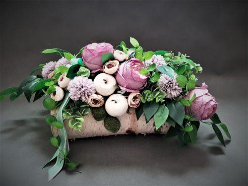 dekoracja nagrobna fioletowa/stroiki na cmentarz sklep