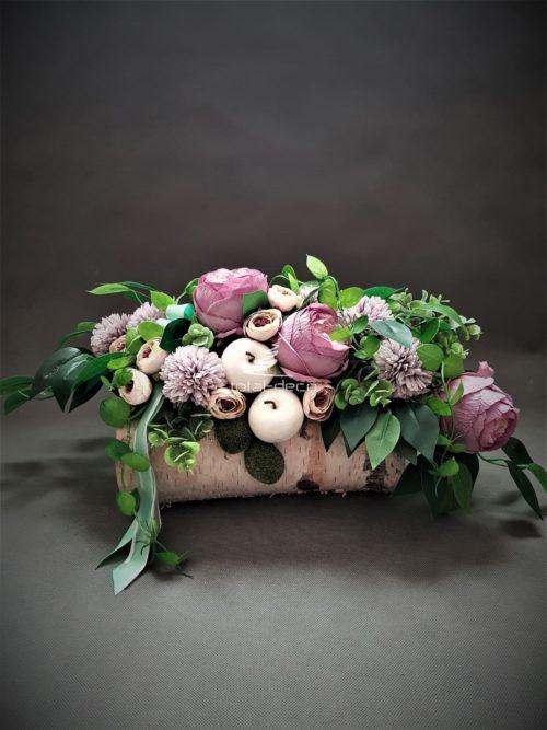 wiązanka wiosenna na cmentarz/kompozycje kwiatowe na groby
