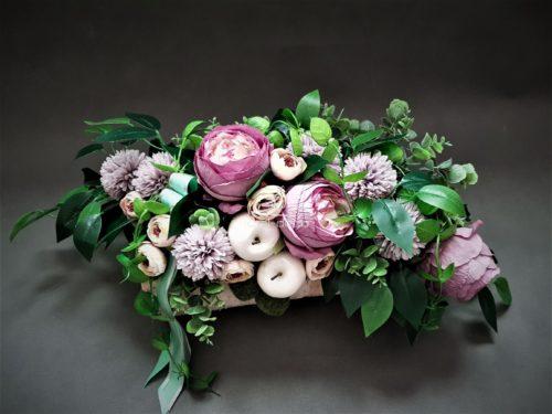 stroiki na cmentarz ręcznie robione/kompozycje na groby ze sztucznych kwiatów