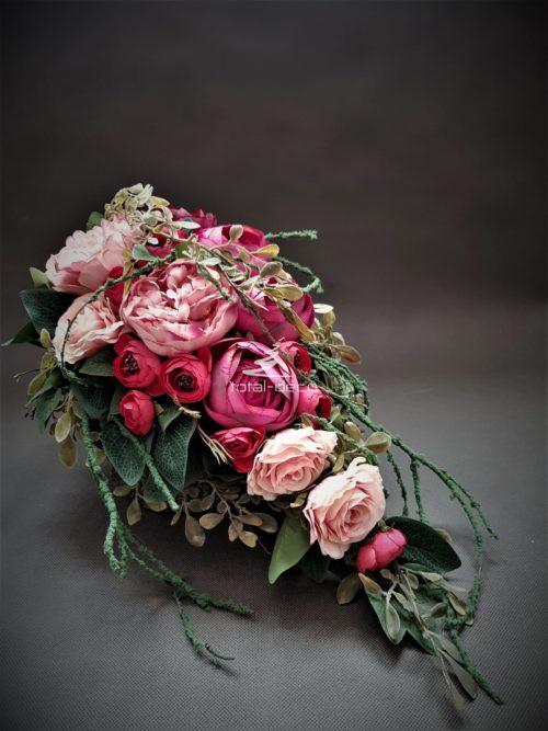 wielkanocny stroik na cmentarz/dekoracje cmentarne ze sztucznych kwiatów